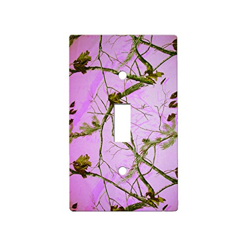 Camo-Pink-Tree-Decor-Switch-Plate-Cover-Metal