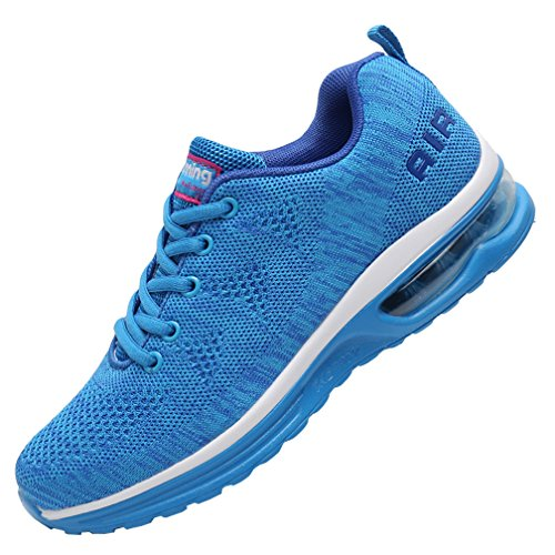 MEHOTO Womens Fashion Lightweight Tennis Walking Shoes Sport Air Fitness Gym Jogging Running Sneakers SkyBlue 6.5 B(M) US