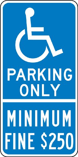 Parking Only Sign Aluminum Top - 9