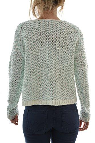 pull léger only onlfantasia l/s short pullover knt bleu