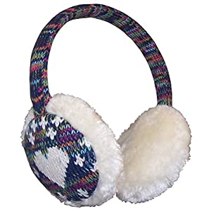 N'Ice Caps Girls Soft Plush Padded Knitted Design Adjustable Winter Earmuffs
