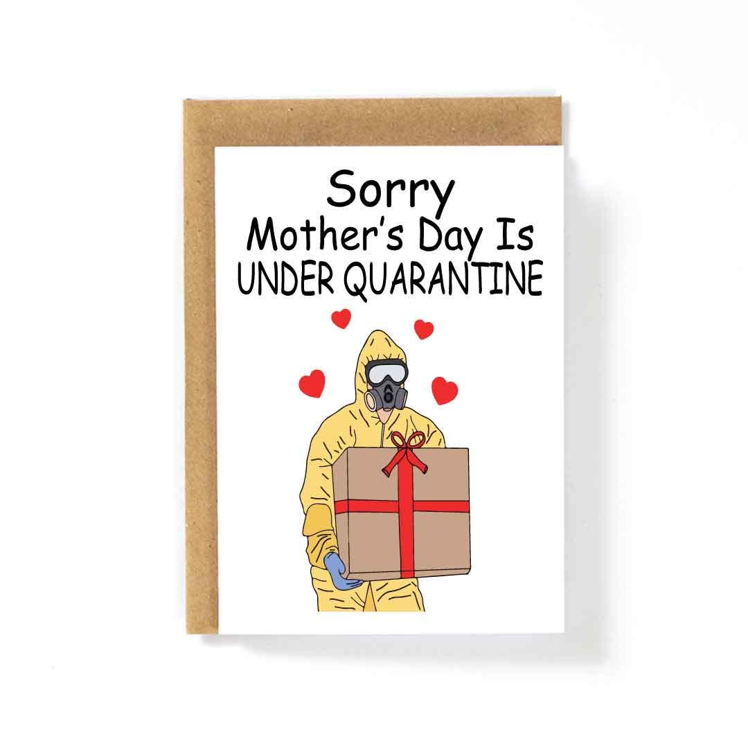 Greeting Card Social Distancing Quarantine Love Sorry Mothers Day Is Under Quarantine