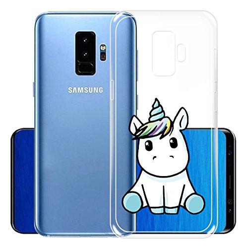 Cover para Samsung Galaxy S9 Plus ( No coincide Samsung Galaxy S9 ) , WenJie La mascota de Dios Verde Transparente Accesorios Regalo TPU Regalo elegante y duradero suave Silicona Suave Funda Case Tapa LF22