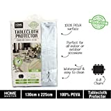 Clear Plastic PVC Table Cloth Protector Covering Outdoors Camping Picnic