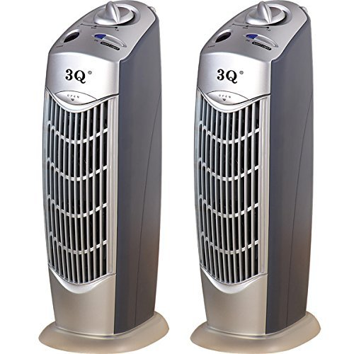 TWO UNITS of 3Q AP08 IONIC AIR PURIFIER PRO IONIZER OZONE CLEANER with UV