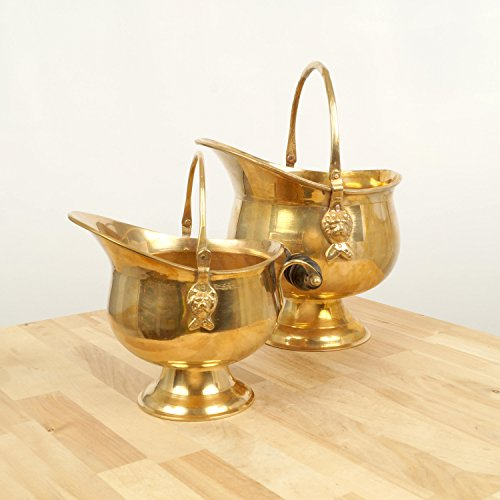 Brass Coal Bucket - 9