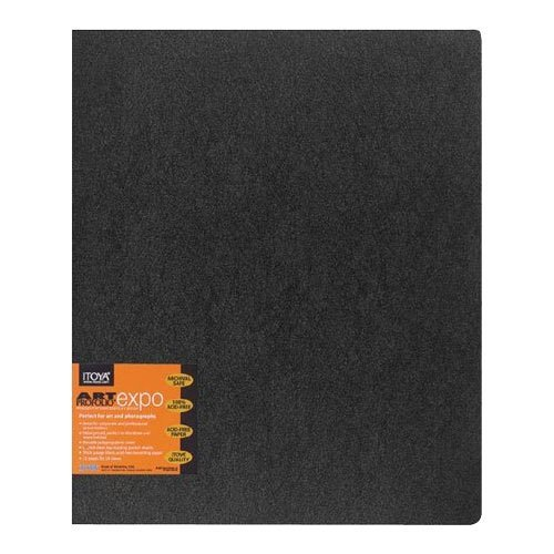 Itoya Art Profolio Expo Presentation/Display Book, 12 Sleeves, 9 X 12 inches, Black (XP-12-9) ()