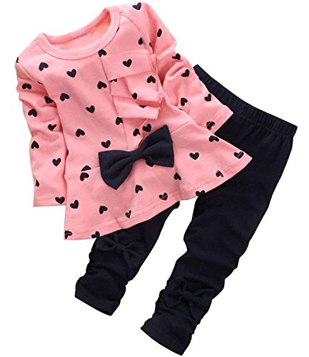 (Avidqueen Adorable Cute Toddler Baby Girl Clothes Set Long Sleeve 2pcs Outfits Fall Clothes (Age(4T), 02)