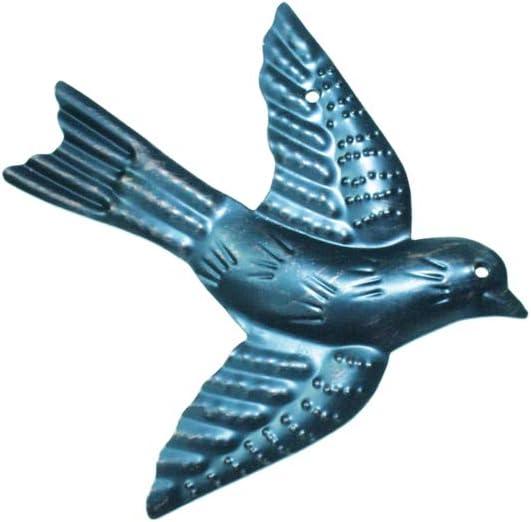 Freedom Vogelflock 5er Set Deko Metall Wandbehang Kunst 12,7 x 11,4 cm oder 11 x 12 cm Haute Collage 5 x V/ögel 3D Wandbild