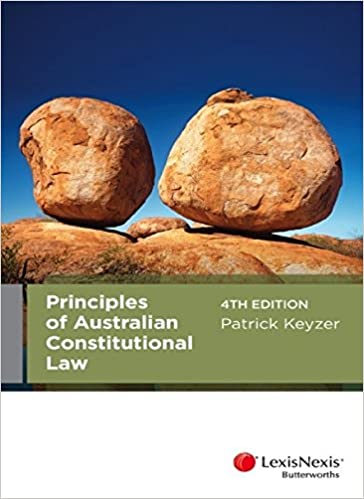 Book Principles of Australian Constitutional Law, 4th Edition