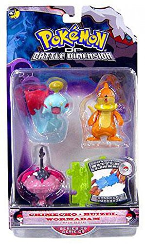 Pokemon Diamond Pearl Series 9 Basic Figure 3Pack Chimecho, Buizel Wormadam Trash -