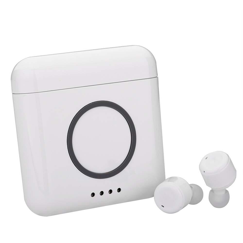 SUNLMG Verdaderamente V4.2 Bluetooth Auriculares Mini Auriculares Ergonómicos Auriculares Bluetooth Estéreo Cancelación De Ruido Auriculares Inalámbricos ...