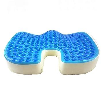 WBaRJ Cojín ortopédico de Asiento de Gel Comfort Therapy - Cojín ergonómico de Espuma viscoelástica para Oficina, hogar, automóvil, Silla de Ruedas: ...