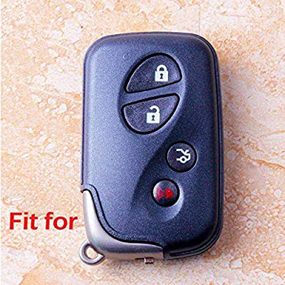 2Pcs WERFDSR Sillicone key fob Skin key Cover Keyless Entry Remote Case Protector Shell for Lexus GS430 GS300 IS350 IS250 LS460 GS450h GS350 ES350 LS600h LX570 RX450h RX350 HS250h black: Automotive