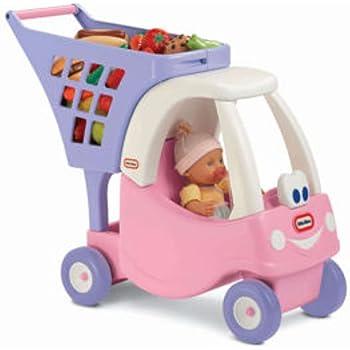 Amazon Com Little Tikes Cozy Shopping Cart Pink Purple