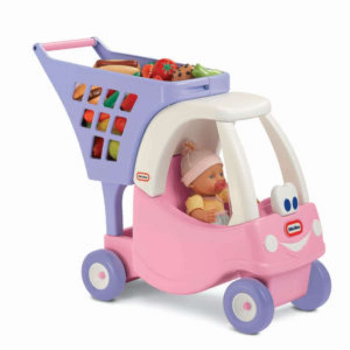 Little Tikes Cozy Shopping Cart Pink/Purple by Little Tikes