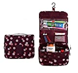 leoyoubei Suspension shower tote/Waterproof Storage Bag-Travel/Bath Organizer with 8 Storage Compartments -Multifunctional Sorting finishing toiletries (Red wine)