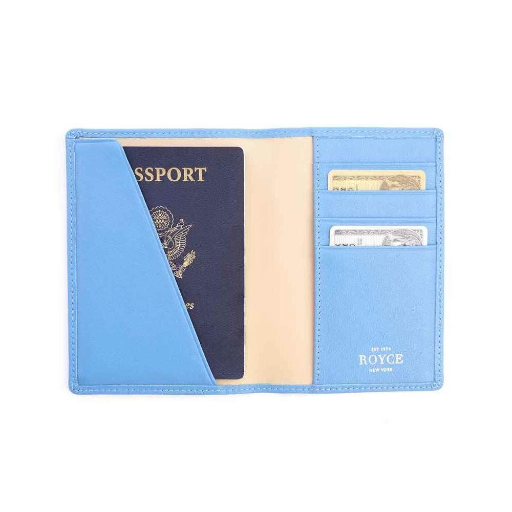 Royce Blue RFID Blocking Leather Passport Wallet RFID-209-RB-5