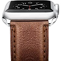 Benuo Leather Band For Apple Watch Series 3 (42mm Dark Brown)