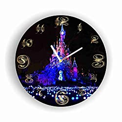 ArtWall Disney World 11.8'' Handmade Clock - Get Unique décor for Home or Office - Best Gift Ideas for Kids, Friends, Parents and Your Soul Mates - Made of Plastic