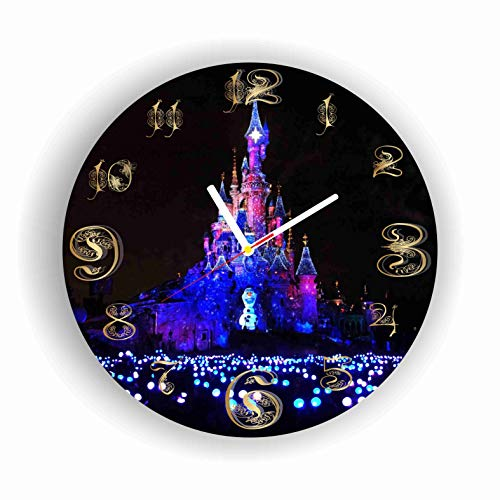 ArtWall Disney World 11.8'' Handmade Clock - Get Unique décor for Home or Office – Best Gift Ideas for Kids, Friends, Parents and Your Soul Mates - Made of Plastic - Disney Plastic Clock