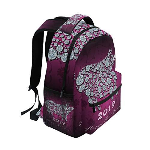 for Year Bag for Backpack 2019 New Pig Girls Book Women Travel Boys Backpack Ahomy Men Satchel School Teenager Hiking Bag qzSI44