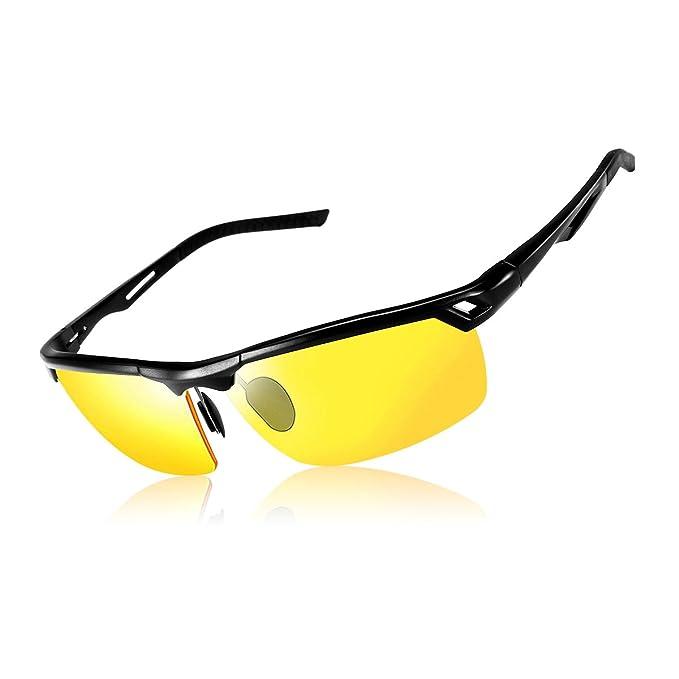 SGODDE Gafas de Conducción Nocturnas, Gafas de Sol Deportivas Polarizado Anti-UV Revestimiento Antirreflectante Antideslumbrante Hombre y Mujer