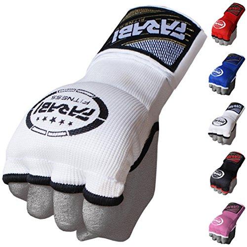 Farabi Kids Hybrid Boxing Inner Gloves Punching Boxing MMA Muay Thai Gym Workout Hand Wraps Gel Inner Gloves Fingerless Gloves Bandages Mitts Hand Protector. (Junior, White)