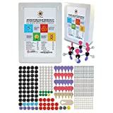 Molecular Model Kit with Molecule Building Software, Dalton Labs Organic Chemistry Set - 306 pcs Expanded Teaching Edition Educational Set - Color Coded Atoms, Bonds, Orbitals - Advanced Science Toys