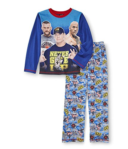 WWE John Cena, cm Punk and The Rock Never Give Up Pajama Set, Wrestling, Size 10/12 by SGI Apparel