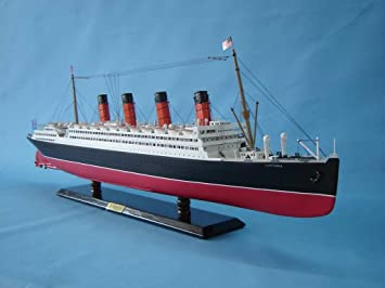 Amazoncom Lusitania Limited Wooden Model Cruise Ship - Toy cruise ships for sale