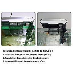 KEDSUM 4.8W 70GPH Submersible Aquarium Filter 3-in-1 External Hanging Fish Tank Power Filter for Freshwater Saltwater - 110V