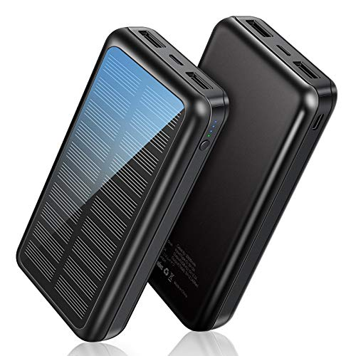 Power Bank Soxono Solar Charger 30000 mAh, Slimmest and Lightest M, black