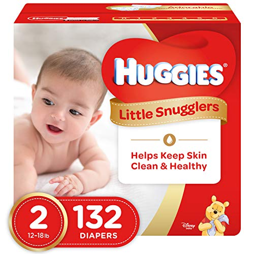 The Pooh Diapers Disney Winnie (Huggies Little Snugglers Baby Diapers, Size 2, 132 Count, GIANT PACK (Packaging May Vary))