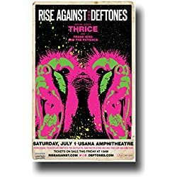 "Rise Against Poster - Concert 11 X 17 w/ Deftones & Thrice 2017 ""Wolves"" tour"