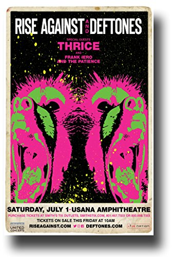 Rise Against Poster - Concert w/ Deftones & Thrice 2017 Wolves tour