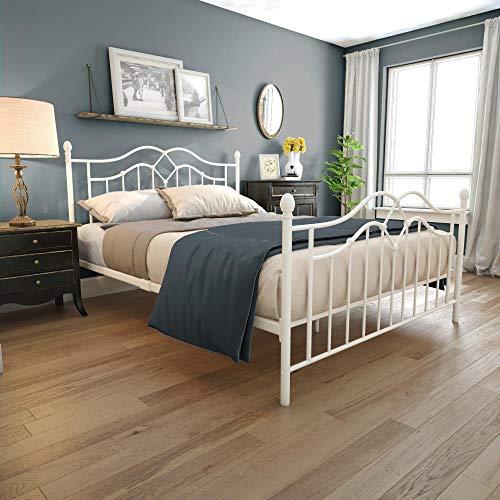 DHP 4300129 Tokyo Metal Bed, Full, White (Bed White Iron)