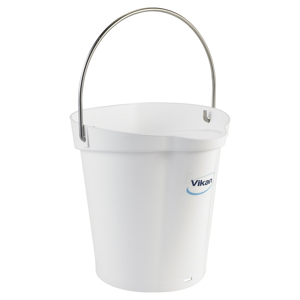 Vikan Polypropylene White 1.5 Gallon Pail