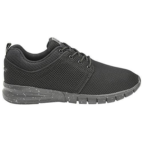 Gola Sport - Zapatillas de cordones modelo Active Angelo para niños (36 EU/Negro)