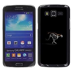 TopCaseStore / la caja del caucho duro de la cubierta de protección de la piel - Running Cheetah Skeleton - Samsung Galaxy Grand 2 SM-G7102 SM-G7105