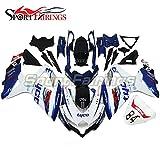 Sportfairings Complete Motorcycle Fairing Kit For Suzuki GSX-R750 GSX-R600 GSXR 600 750 Year 2008 2009 2010 K8 Fairings Blue Black White Sport Bike