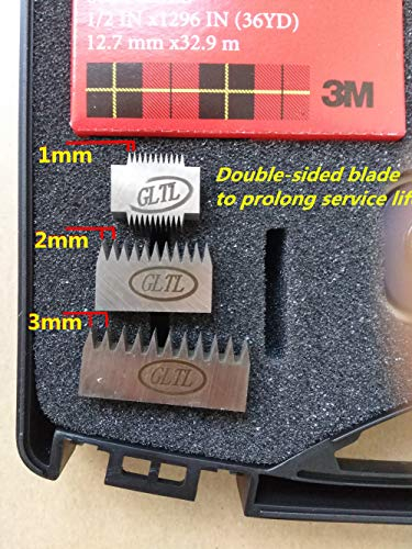 GLTL 3-in-1 Rotating Cross Hatch Adhesion Tester Cross-Cut Tester Kit with 1mm/2mm/3mm Blades by GLTL (Image #4)