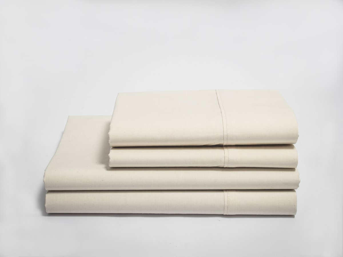 Organics and More NatureSoft Organic Cotton 230 TC Percale Sheet Sets - Queen - Natural by Organics and More (Image #1)