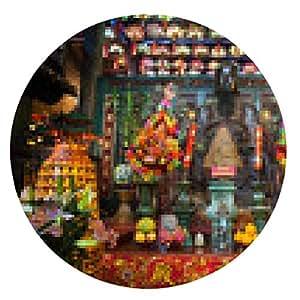 alfombrilla de ratón altar principal en Pak Tai Temple, Wanchai, Hong Kong - ronda - 20cm