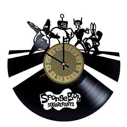 Bob Esponja reloj de pared vinilo adorno - hecho a mano ...