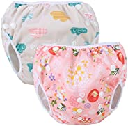 Teamoy Reusable Swim Diapers, 2 Pcs Pack Washable Swimming Diapers for Baby Boys & Girls, Ideal for Swimmi