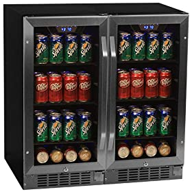 Edgestar 160 Can 30″ Built-In Side-by-Side Beverage Cooler