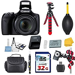 Canon Powershot SX530 HS 16.0 MP Digital Camera with 50x Optical Zoom and 1080p Full HD Video Bundle with Commander 32GB High Speed Memory Card + Card Reader + Deluxe Case + Commander Starter Kit