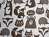 Forest Friends 100% Polyester (FLAT SHEET ONLY) Size TWIN Boys Girls Kids Bedding