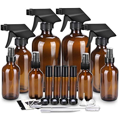 Glass Spray Bottle Kits, BonyTek Empty 4 10 ml Roller Bottles, 8
